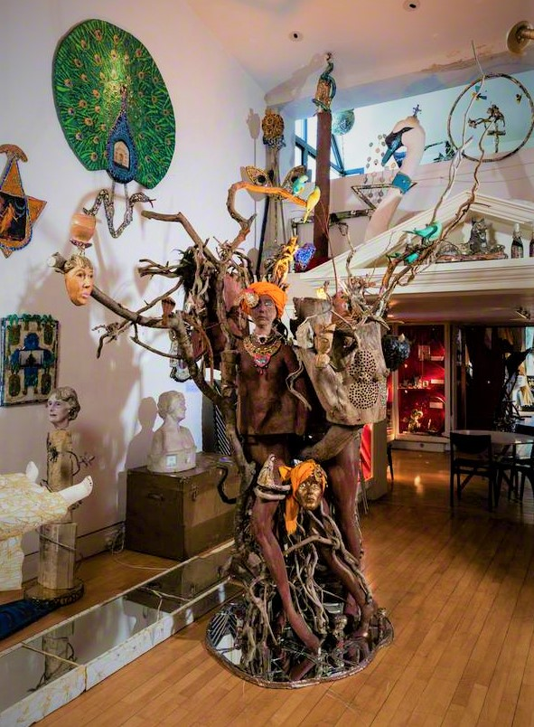 The Singing Tree, Gallery 2, Andrew Logan Museum of Sculpture, Berriew, Powys, Wales